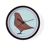 French Mondain Pigeon Wall Clock