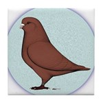 French Mondain Pigeon Tile Coaster