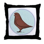 French Mondain Pigeon Throw Pillow