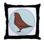 French Mondain Pigeon Throw Pillow