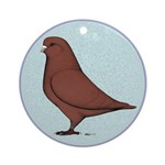 French Mondain Pigeon Ornament (Round)