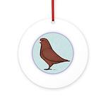 French Mondain Pigeon Ornament (Round)
