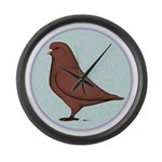 French Mondain Pigeon Large Wall Clock