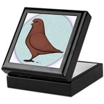 French Mondain Pigeon Keepsake Box