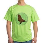 French Mondain Pigeon Green T-Shirt
