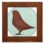 French Mondain Pigeon Framed Tile