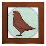 French Mondain Pigeon Framed Tile