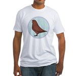 French Mondain Pigeon Fitted T-Shirt