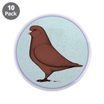 "French Mondain Pigeon 3.5"" Button (10 pack)"
