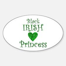"""Black Irish Princess"" Decal"