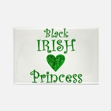 """Black Irish Princess"" Rectangle Magnet"