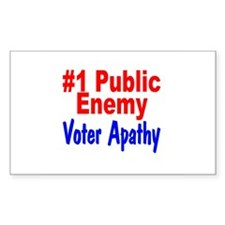 #1 Public Enemy Voter Apathy Rectangle Decal