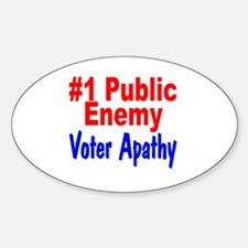 #1 Public Enemy Voter Apathy Oval Decal