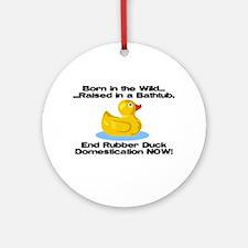 Rubber Duck Ornament (Round)