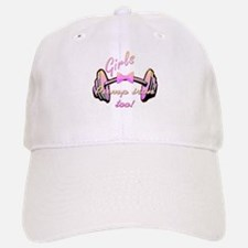 Girls pump iron too! Baseball Baseball Cap