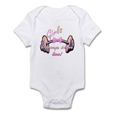 Girls pump iron too! Onesie