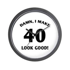 40 Yr Old Gag Gift Wall Clock