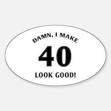 40 Yr Old Gag Gift Decal