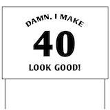 40th birthday Yard Signs