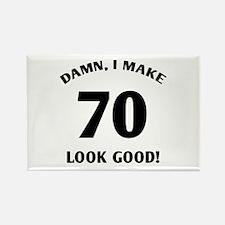 70 Yr Old Gag Gift Rectangle Magnet (10 pack)