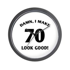 70 Yr Old Gag Gift Wall Clock