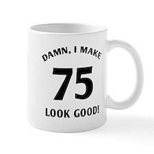 75 Yr Old Gag Gift Small Mugs