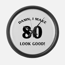 80 Yr Old Gag Gift Large Wall Clock