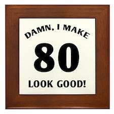 80 Yr Old Gag Gift Framed Tile
