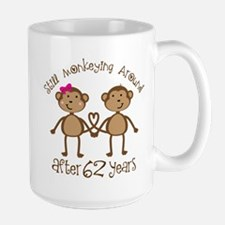 62nd Anniversary Love Monkeys Mugs