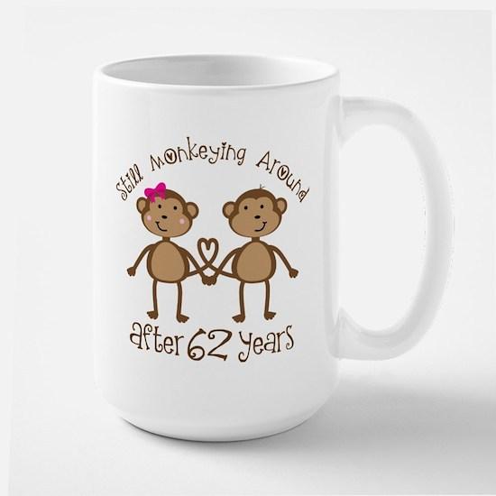62nd Anniversary Love Monkeys Mugs