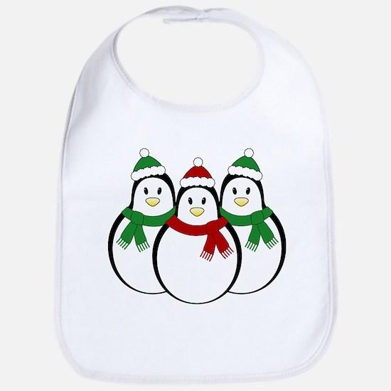 Christmas Penguins Bib