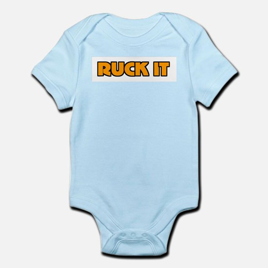 Ruck It Yellow Rugby Humor Infant Creeper