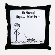 No Mowing! Throw Pillow