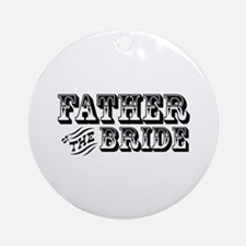 Father of the Bride - Old West Ornament (Round)