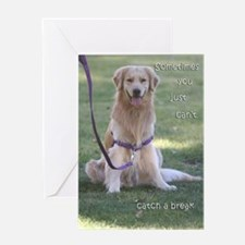 Golden Retriever 'Break' Birthday Card