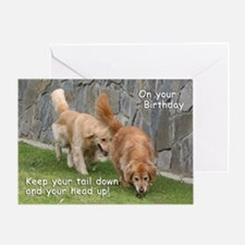 Golden Retriever 'Tail' Birthday Card