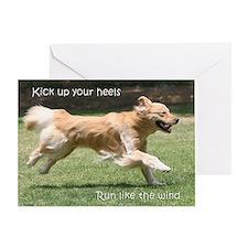 "Golden Retriever ""Run"" Birthday Card"