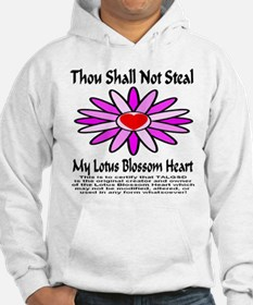 Thou Shall Not Steal Lotus Blossoms Hoodie