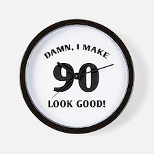 90 Yr Old Gag Gift Wall Clock