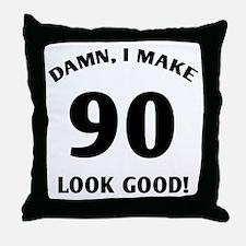 90 Yr Old Gag Gift Throw Pillow