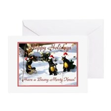 xmas bears Greeting Card