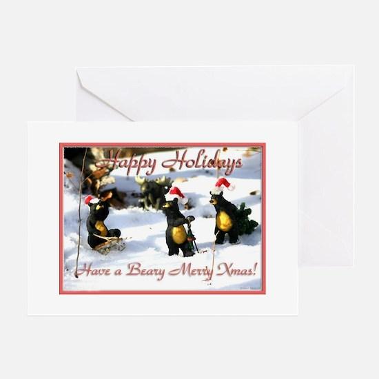 xmas bears Greeting Card