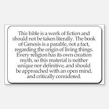 Bible Disclaimer Rectangle Decal
