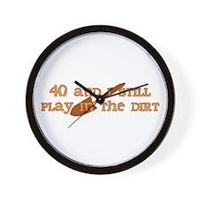 40th Birthday Gardening Wall Clock