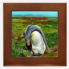 King Penguin with egg- Framed Tile