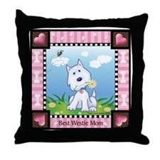 Best Westie Mom Throw Pillow
