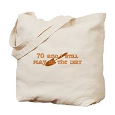 70th Birthday Gardening Tote Bag