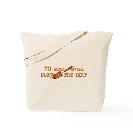 70th Birthday Gardening Tote Bag