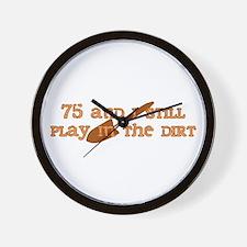 75th Birthday Gardening Wall Clock