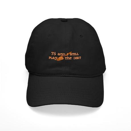 75th Birthday Gardening Black Cap